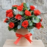 Коробка с цветами 0044