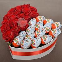 Коробка с цветами 0018