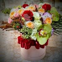 Коробка с цветами 0019