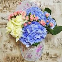 Коробка с цветами 0020